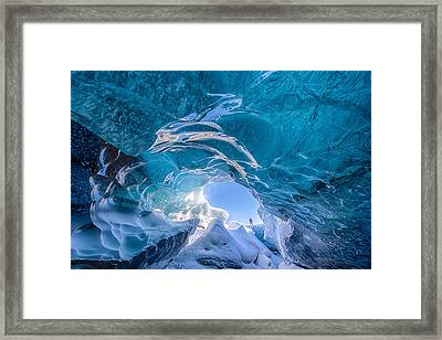 Ice Vortex Framed Print by Michael Blanchette