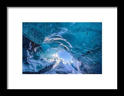 Glacier Framed Prints