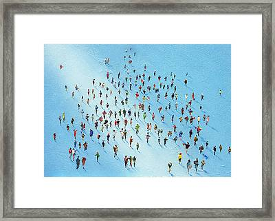 Ice Walking Framed Print by Neil McBride