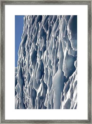 Ice Wall Framed Print by Steve Allen/science Photo Library