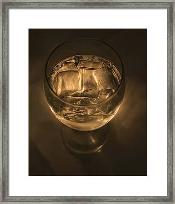 Ice Water By Candle Light Framed Print by Angela A Stanton