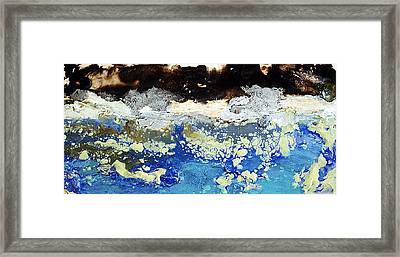 Ice Water Frozen Trees Framed Print