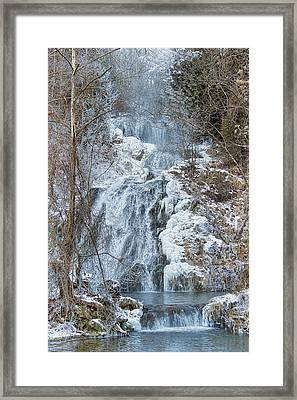 Ice Water Framed Print by Kathy Jennings