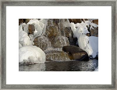 Ice Water Landscape Framed Print