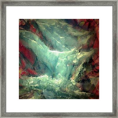 Ice Waterfall Framed Print by Danielle Arnal