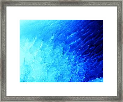 Ice Wave Framed Print by Christian Rooney