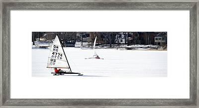 Ice Yacht Race Framed Print