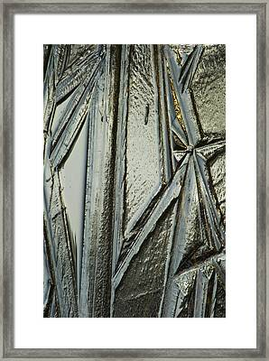 Framed Print featuring the photograph Ice by Yulia Kazansky