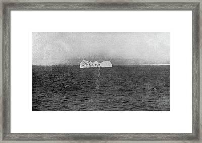 Iceberg, 1912 Framed Print