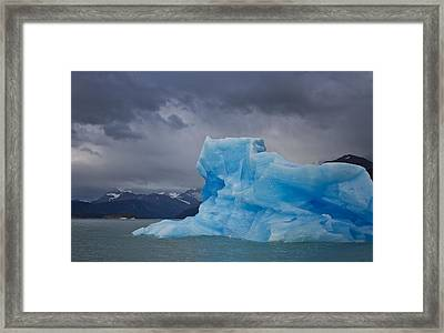 Iceberg Ahead Framed Print