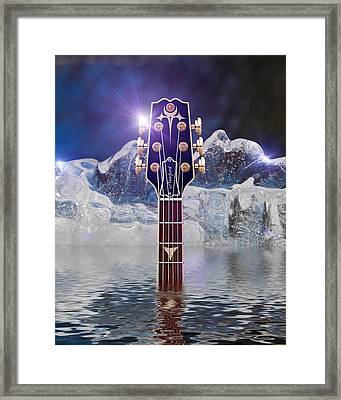 Framed Print featuring the digital art Iceberg Blues by WB Johnston