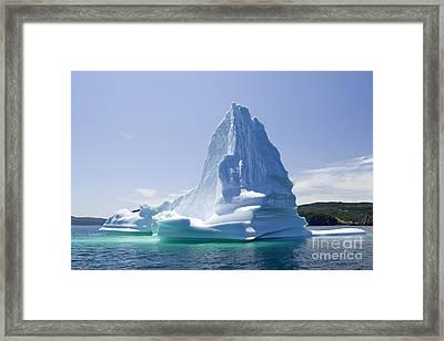 Framed Print featuring the photograph Iceberg Canada by Liz Leyden