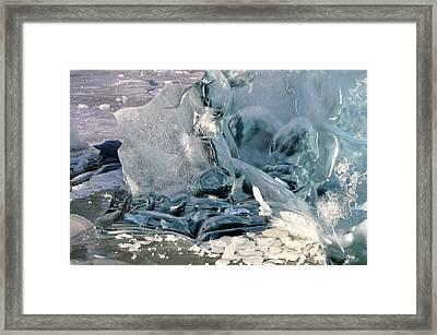 Iceberg Detail Framed Print by Cathy Mahnke