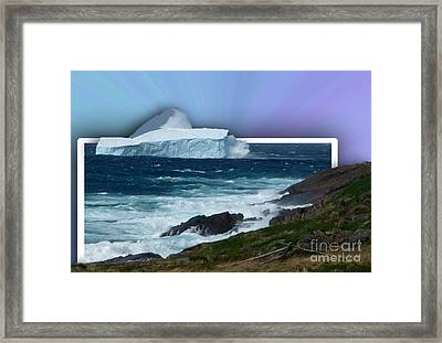 Iceberg Escape Framed Print by Barbara Griffin