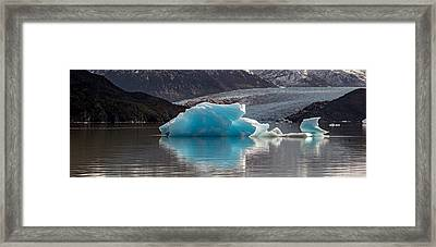 Iceberg In A Lake, Gray Glacier, Torres Framed Print by Panoramic Images