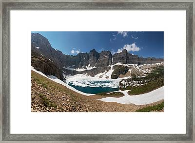 Iceberg Lake Framed Print by Aaron Aldrich