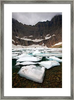 Framed Print featuring the photograph Iceberg Lake by Aaron Whittemore