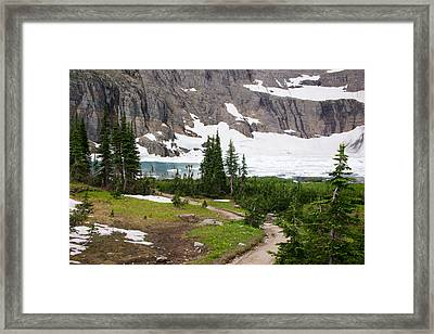 Iceberg Lake Framed Print