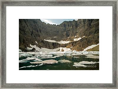 Iceberg Lake Framed Print by Natural Focal Point Photography