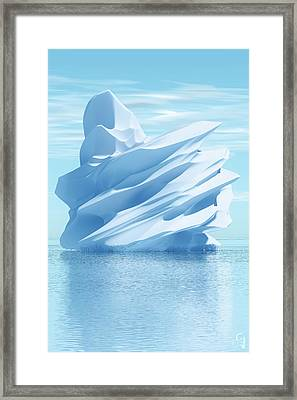 Iceberg Framed Print by Matt Lindley