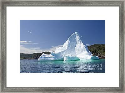 Framed Print featuring the photograph Iceberg Newfoundland Canada by Liz Leyden