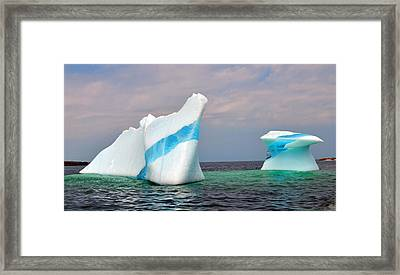 Iceberg Off The Coast Of Newfoundland Framed Print by Lisa Phillips