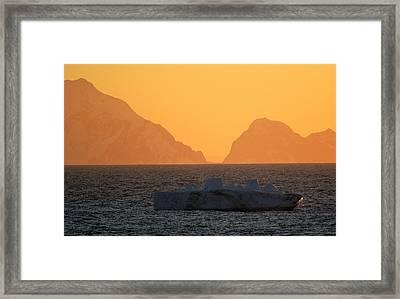 Iceberg Ship Framed Print by DerekTXFactor Creative