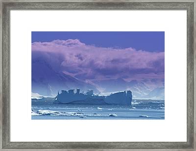 Iceberg Shipwreck Framed Print by DerekTXFactor Creative