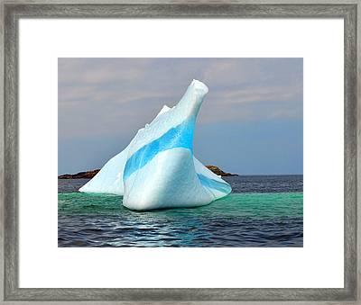 Iceberg Up Close Off Newfoundland Framed Print
