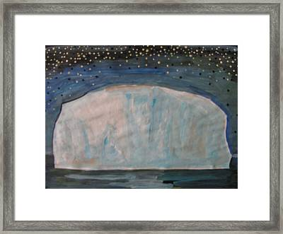 Framed Print featuring the painting Iceberg by Vikram Singh