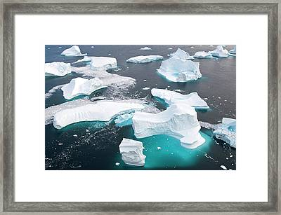 Icebergs, Cape York, Greenland Framed Print