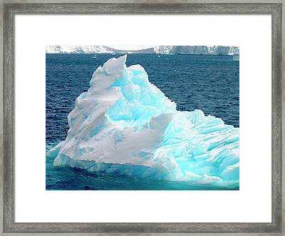 Icebergs Floating In The Sea, Paradise Framed Print by Miva Stock