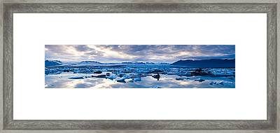 Icebergs In A Glacial Lake, Jokulsarlon Framed Print by Panoramic Images