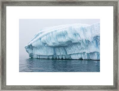 Icebergs In Wilhelmina Bay Framed Print