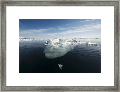 Icebergs, Norway Framed Print by Science Photo Library