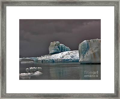 Icebergs Of Leconte Glacier Framed Print by Cynthia Lagoudakis