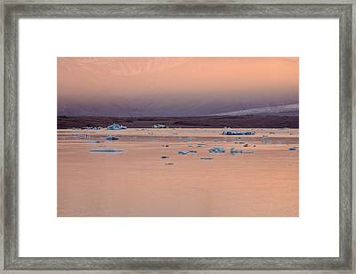 Icebergs On The Jokulsarlon Glacial Framed Print by Panoramic Images