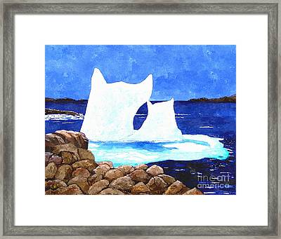 Icebergs - Unique Shape Bergs - Northern Visitors Framed Print by Barbara Griffin