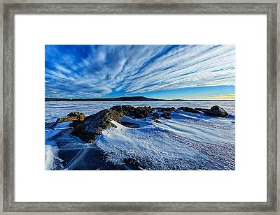 Icebound 7 Framed Print by ABeautifulSky Photography