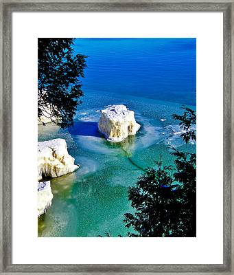 Iceberg Door County Wisconsin Framed Print by Carol Toepke