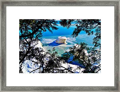 Iceberg  In Door County Wisconsin Framed Print by Carol Toepke