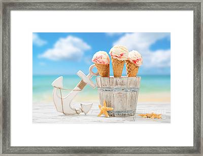 Icecream At The Beach Framed Print