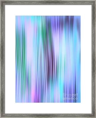 Iced Abstract Framed Print