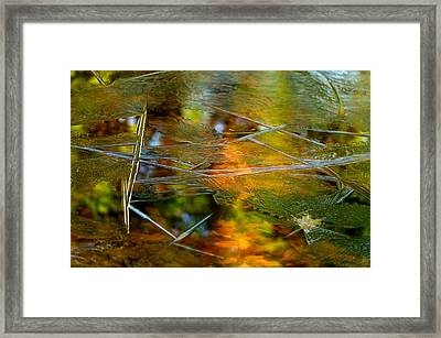 Iced Fall Framed Print by Simone Ochrym