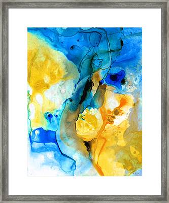 Iced Lemon Drop - Abstract Art By Sharon Cummings Framed Print
