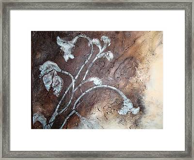 Framed Print featuring the painting Iced Lilies by Tamara Bettencourt