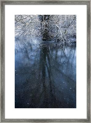 Iced Mirror Framed Print by Svetlana Sewell
