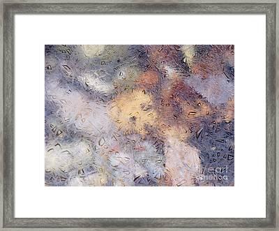 Iced Stones Framed Print