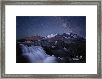 Icefields At Night Framed Print