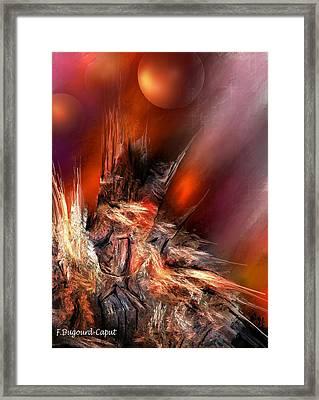 Icefire Framed Print by Francoise Dugourd-Caput